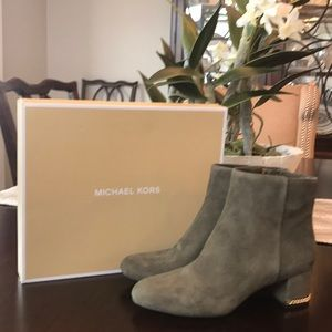 New in Box Michael Kors Sabrina Mid Suede Bootie!!